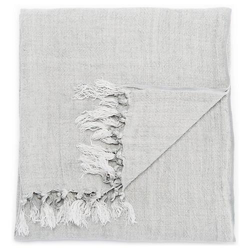 Besle Linen Throw, Gray