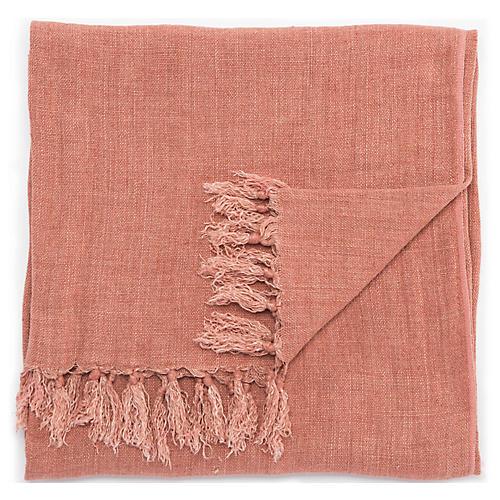 Besle Linen Throw, Pink