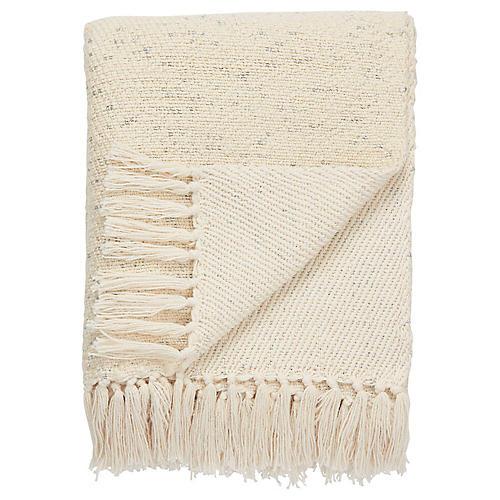 Sont Cotton Throw, Cream