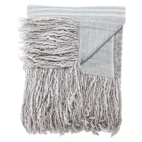 Ormo Acrylic Throw, Light Gray