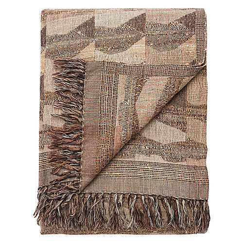 Ande Throw, Taupe/Gray