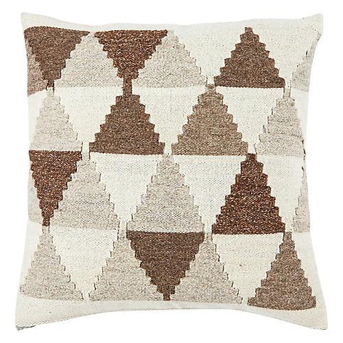 Nepiq 20x20 Pillow, Brown/Gray