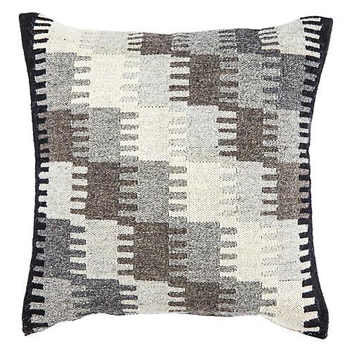 Nepiq 20x20 Pillow, Gray/Black