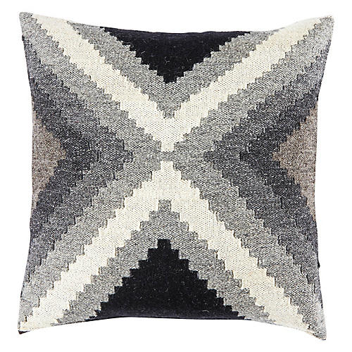 Nepiq 20x20 Pillow, Gray/White