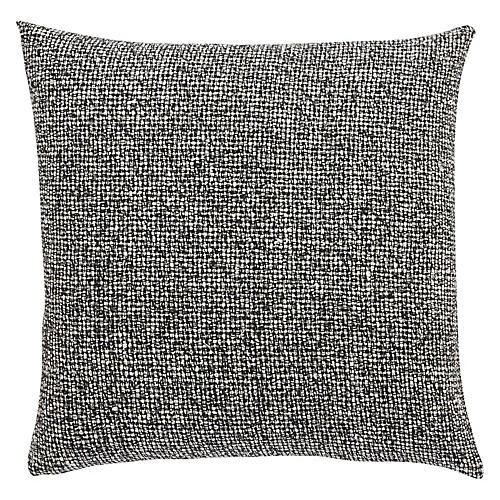 Madam 22x22 Pillow, Gray/Black