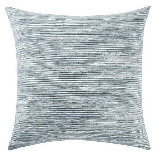 Plu 22x22 Pillow, Blue/White