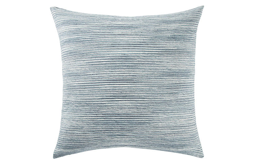 Plu 22x22 Pillow, Blue/White