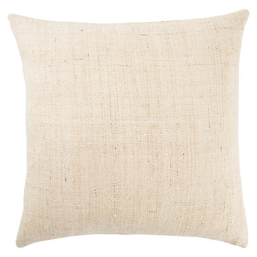 Chi 22x22 Pillow, Ivory/Beige