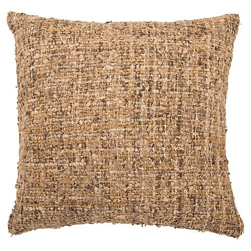 Jani 22x22 Pillow, Brown/Tan