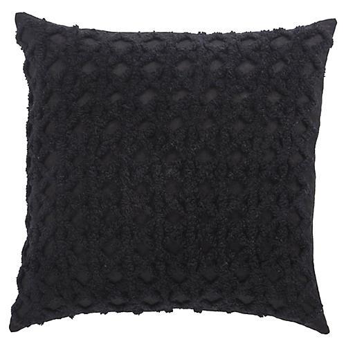 Lenox 20x20 Knit Pillow, Black Linen