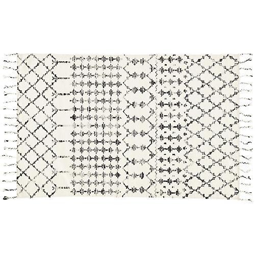 Carson Flat-Weave Rug, Ivory/Black