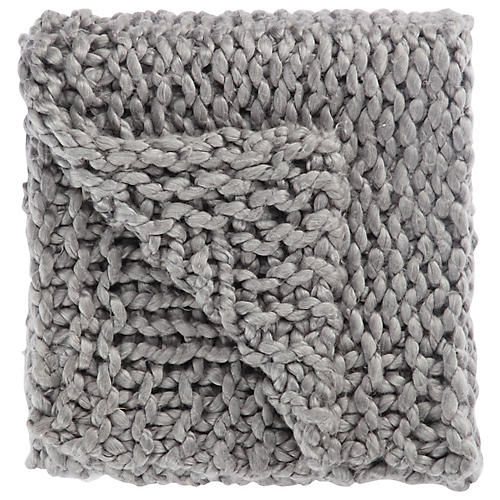 Yaya Acrylic Throw, Gray