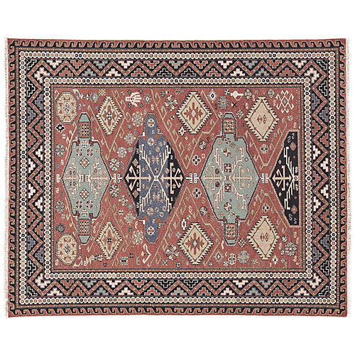 Raleigh Rug, Red/Blue