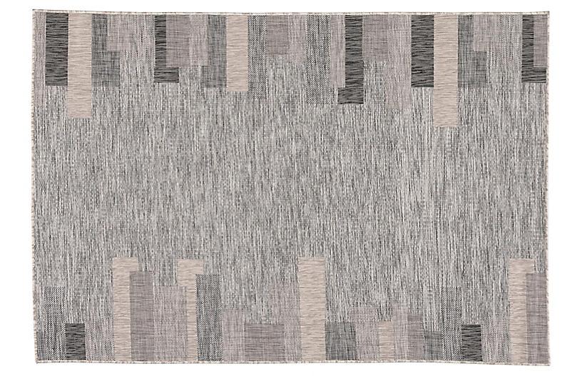 Nikea Outdoor Rug, Gray