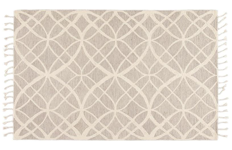 Tegan Handmade Rug, Ivory/Gray