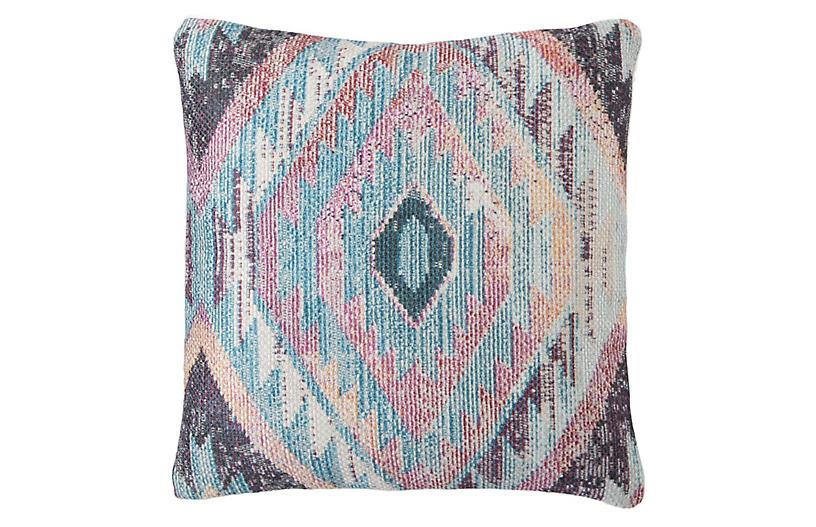 Sinai 18x18 Outdoor Pillow, Blue