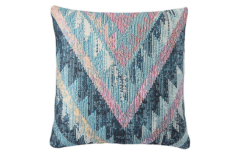 Petra 18x18 Outdoor Pillow, Blue