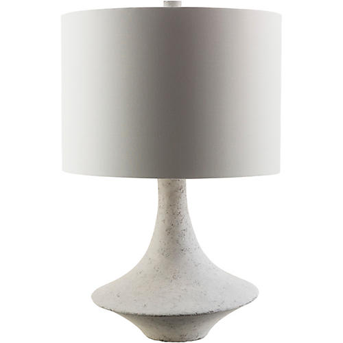 Bennett Table Lamp, White Plaster