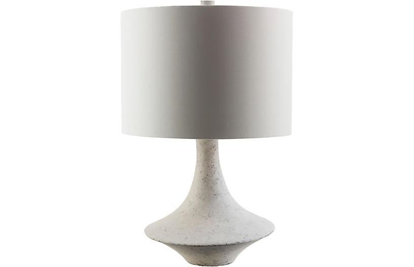 Bennett Table Lamp, White Plaster