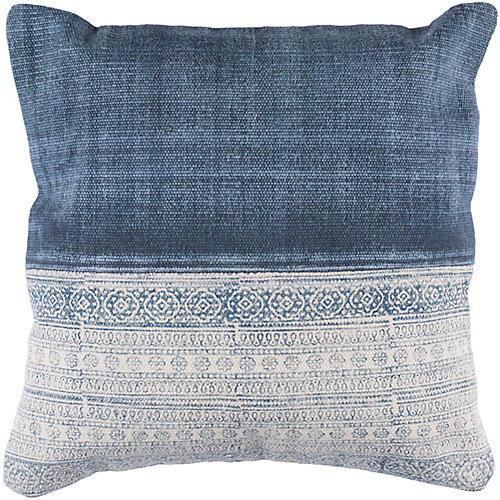 Bea 20x20 Pillow, Denim