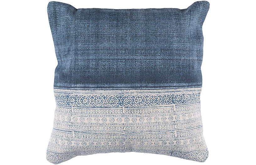Bea 20x20 Pillow, Denim