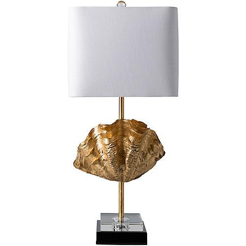 Morris Shell Table Lamp, Gold