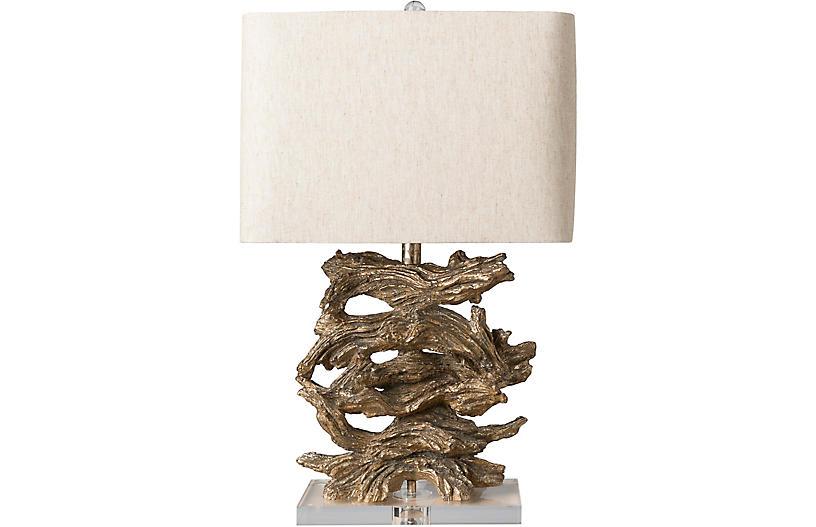 Bompton Table Lamp, Antiqued Gold