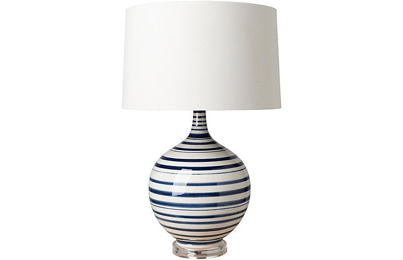 Delano Table Lamp Blue White One, One Kings Lane Corrine Table Lamp