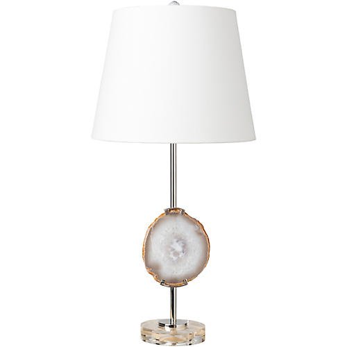Daya Crystal Table Lamp, Natural Quartz