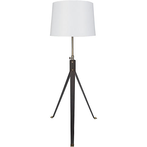 Decklyn Floor Lamp, Deep Bronze/Brass