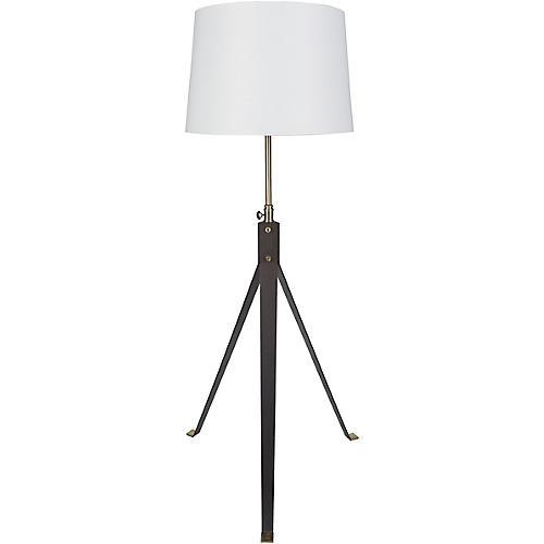 Decklyn Floor Lamp, Deep Bronze/Brass