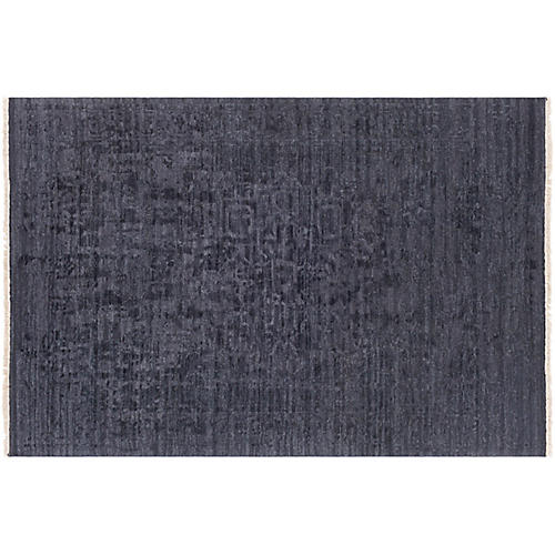 Courtney Hand-Knotted Rug, Charcoal
