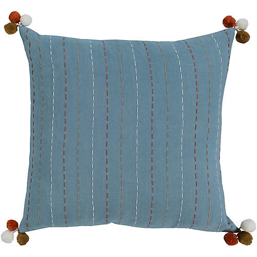 Maple 20x20 Pillow, Blue/Multi