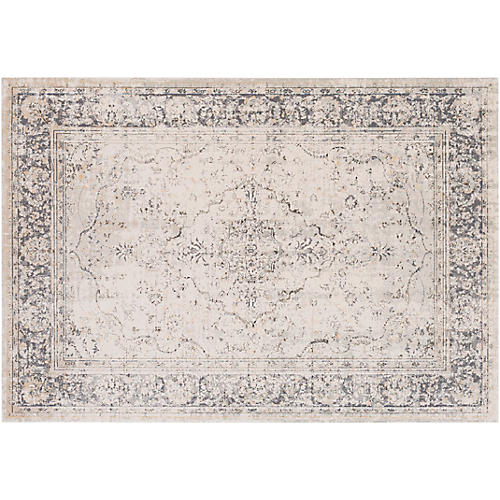 Constance Rug, Taupe/Charcoal