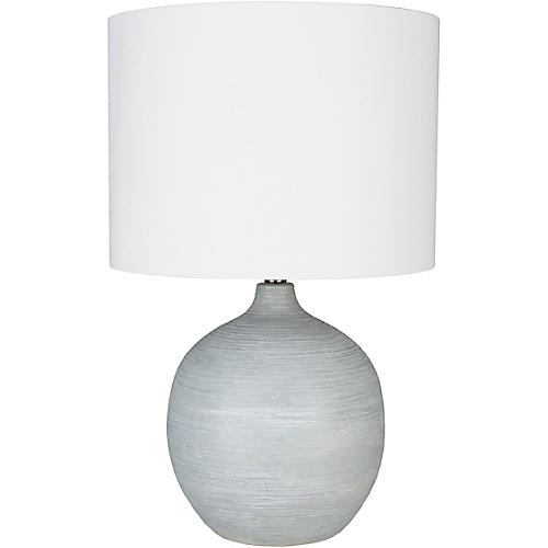 Clayton Table Lamp, Pale Blue