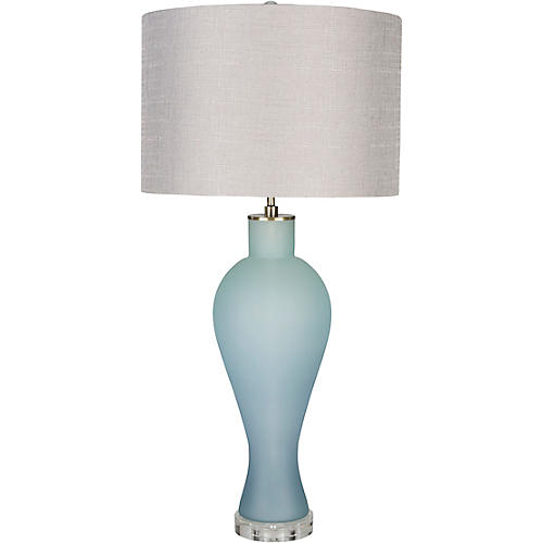 Blakely Table Lamp, Frosted Blue