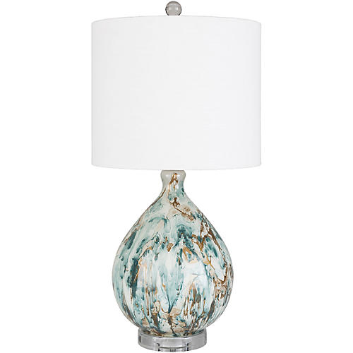 Mixon Abstract Table Lamp, Forest/Multi