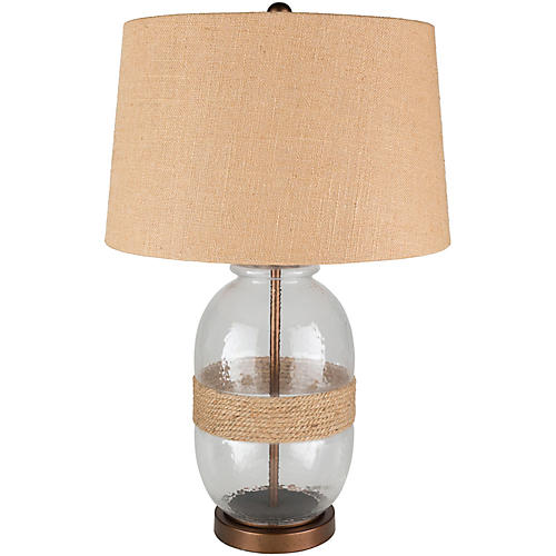 Evelyn Table Lamp, Clear/Copper