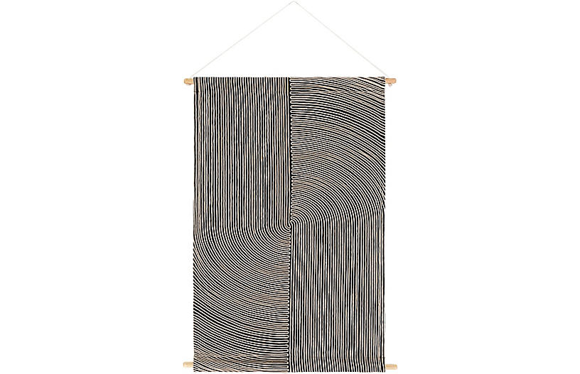 Petra Wall Hanging, Black