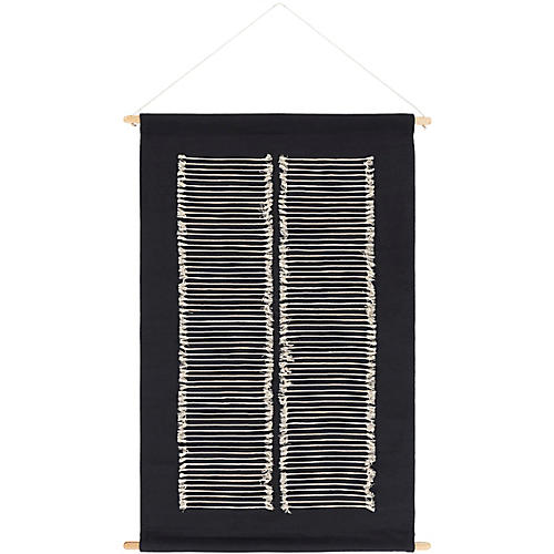 Selena Wall Hanging, Black
