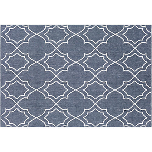 Sita Outdoor Rug, Charcoal/White