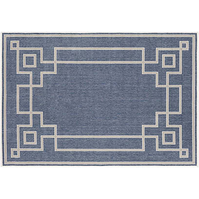 Richmond Outdoor Rug, Dark Slate/Taupe