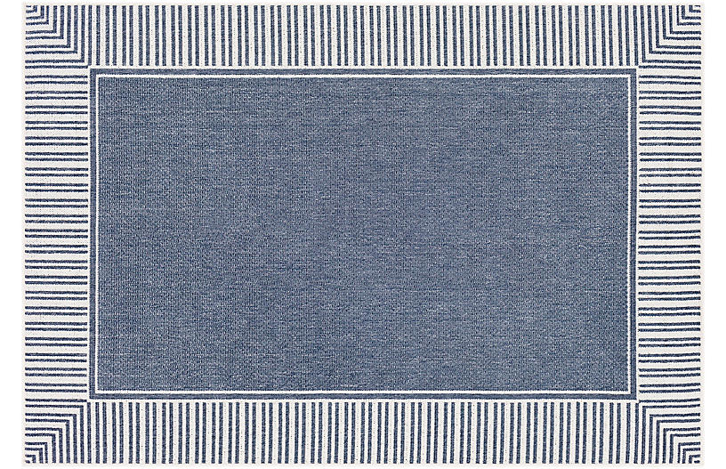 Fay Outdoor Rug, Charcoal/White