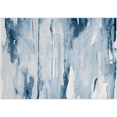 Nova Rug, Blue/Gray