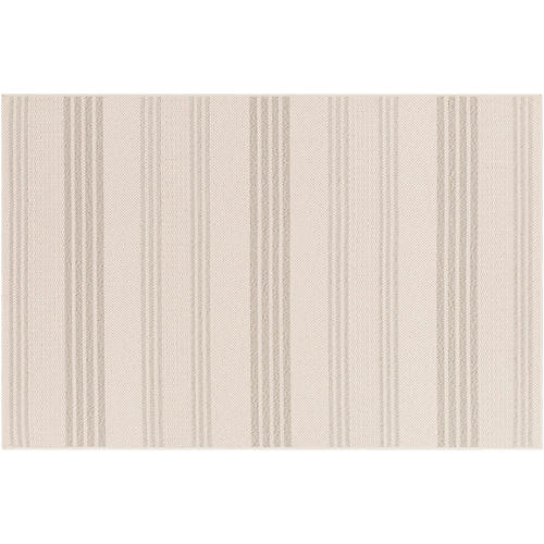 Knox Outdoor Rug, Ivory/White