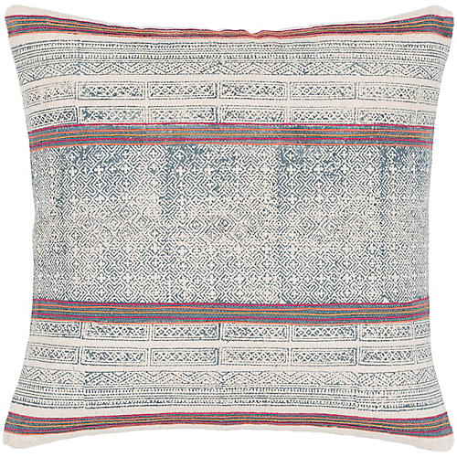 Parker 20x20 Pillow, Navy/Multi