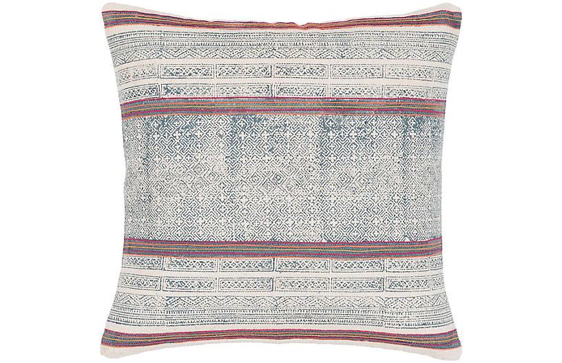 Parker 20x20 Pillow, Navy/Multi