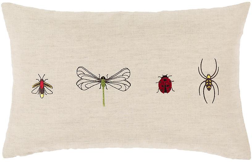Critters 13x20 Lumbar Pillow, Beige/Multi