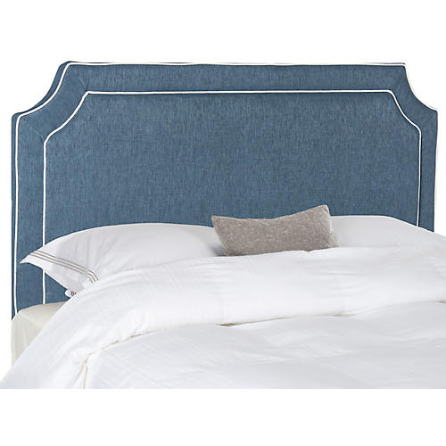 Dane Headboard, Navy/White