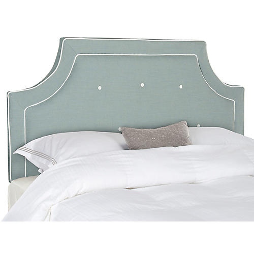 Tallulah Headboard, Blue/White